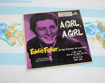 Eddie Fisher, A Girl, A Girl, RCA Victor 45 record