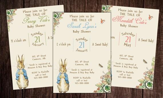 Printable peter rabbit baby shower story book baby shower filmwisefo
