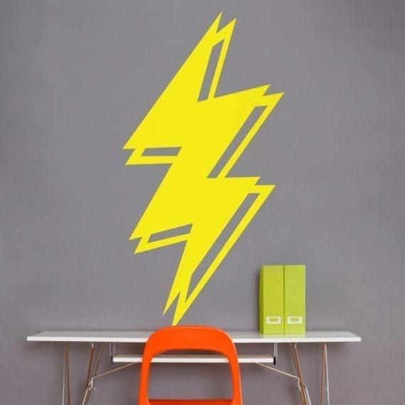 lightning bolt vinyl wall decal lightning sticker art