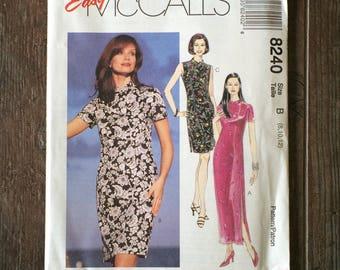 Misses Easy Dress Pattern / Dress Pattern / Semi Fitted Dress Pattern / Petite Abke Dress Pattern / McCalls 8240