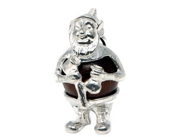 Sterling Silver Lucky Touch Wud Wood Gnome Charm For Bracelets