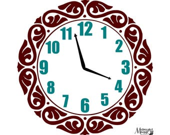 Play Kitchen Wall Clock SVG, Cut File, Instant Download