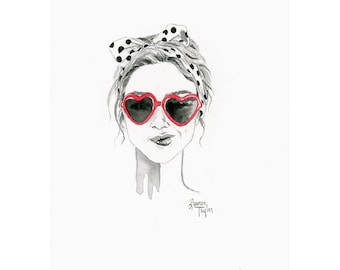 Red Giclee Print