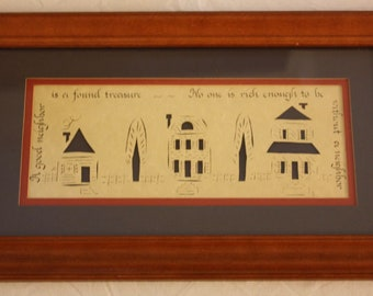 Designs With Scissors Framed Paper Cut-Out Wall Hanging