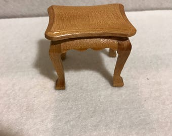 Vintage Coffee Table, Miniature Dollhouse