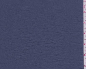 Moonshadow Blue Crinkled Crepe de Chine, Fabric By The Yard