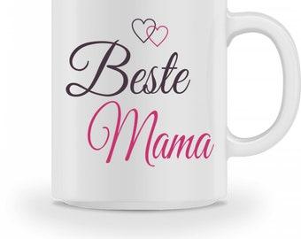 Keramiktasse -Becher -  Beste Mama - Muttertag Geschenk Tasse Kaffeebecher mit Spruch