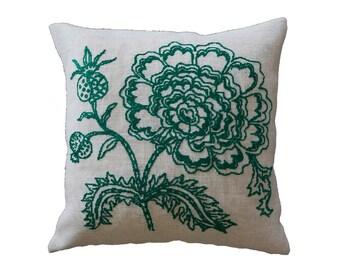 Needlepoint kits FLORENCE - embroidery kit,cross stitch,needlepoint,needlepoint pillow,embroidery,anette  eriksson,swedish,floral,diy kit
