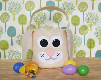 Bunny Easter Basket, Woodland,Woodland animals, Easter basket ideas, Easter gift ideas, Easter bucket, first Easter gift