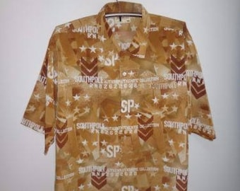 South Pole Full Print Button Down Shirt Hip Hop Streetwear Fashion Nwa Big Boys