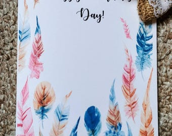Feather Mothers Day Card