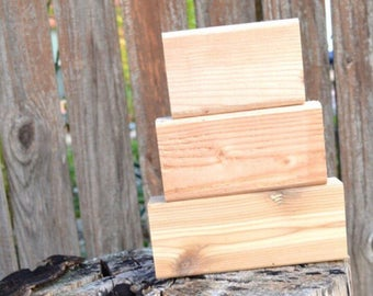 Blank Wooden Blocks - Large Stacker, Blank Wood Sign, Blank Wood Block, Pinterest DIY, Blank Wedding Centerpiece Decor