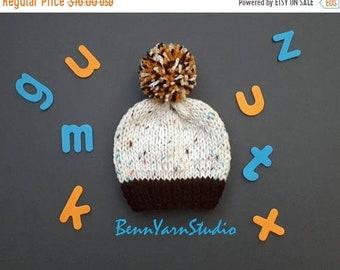 SAVE 25% DISCOUNT Knit Baby Hat_Baby Pom Pom Hat_Newborn Baby Boy Beanie_Knit Baby Hat_Pom Pom Newborn Baby Hat_Newborn Baby Hospital Hat