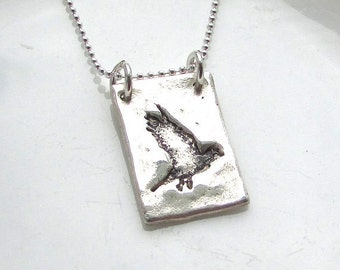 Soaring Bird Silver Necklace