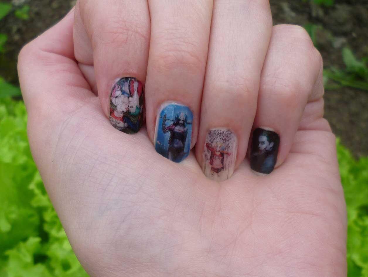 Harley Quinn & Joker 2, Harley Quin, Joker, Full Cover, Nail Sticker ...