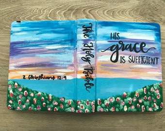 Hand Painted ESV journaling Bible- His Grace