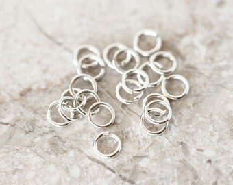 2090 Sterling silver jump rings 5mm x 0.8mm Jewerly connectors 925 silver jump rings Open jump rings Silver findings jewelry making 20pcs