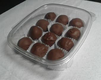 Homemade Bourbon Balls made from scratch  chocolate covered