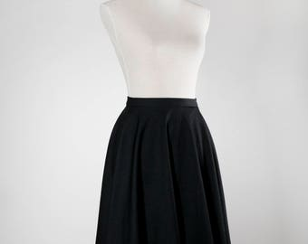 Full Circle Skirt Black
