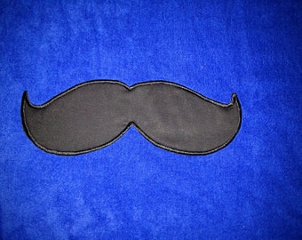 MUSTACHE BEACH Towel Embroidery and Applique 100% cotton terry velour - Made To Order