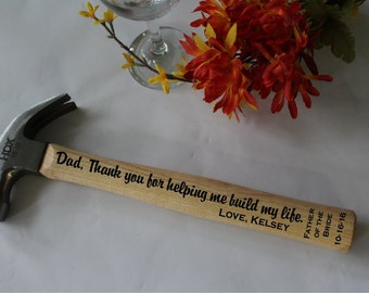 Father of the Bride Gift Custom Hammer, Personalized Hammer, Personalized groomsmen accessories, Gift for Men,  Anniversary Gift