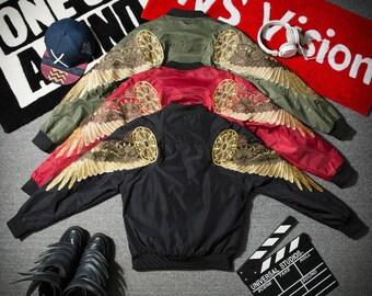 Golden Wings Bomber Jacket