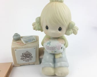 Vintage Precious Moments Members Only 1984 Symbol Join In ON The Blessings Figurine E-0404