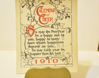 ORIGINAL Calendar of Cheer 1910 Dodge Publishing Company Compete Year Calendar Pages Great for Journaling