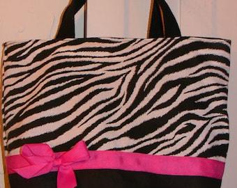 Wild Animal Zebra Safari Modern Punk Purse Tote BAG or Diaperbag