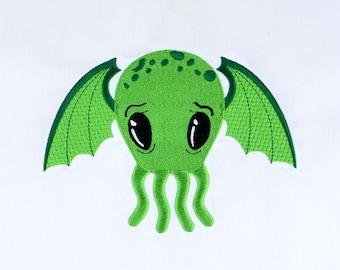 Cutie Cthulhu 5x7 machine embroidery design