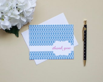 Patterned Thank You Notes- Set of 10