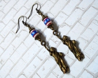 Red, White and Blue Patriotic Statue of Liberty Earrings (2711)