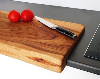 Personalised Large Overhanging Chopping Board - Camphor Laurel
