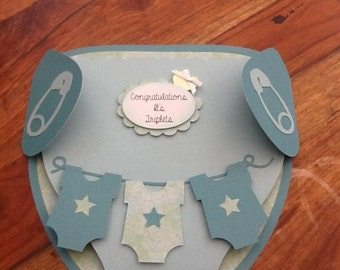 Diaper card, Nappy Shaped New Baby Card, new baby card, welcome baby card, new baby, mum card, mum birthday mummy card,