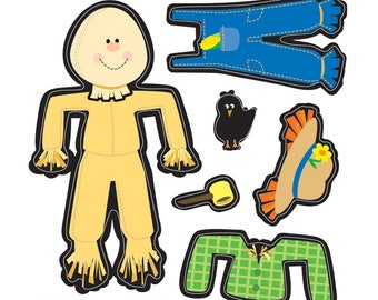 """20 Make-Your-Own Scarecrow Stickers, 2.5"""" x 2.5"""""""