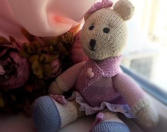 Bear hand made, toy, interior