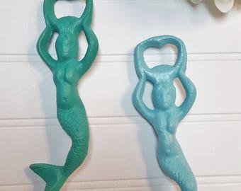 MERMAID BOTTLE OPENER  ~Cast Iron Bottle Opener ~ Nautical Barware ~ Beach Bottle Opener