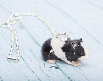 Guinea Pig Necklace -  Pendant Necklace - China Animal Necklace - Guinea Pig -  Jewelry - Animal Jewellery - Miniature Guinea Pig Necklace