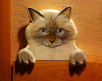 CUSTOM PET PORTRAITS   Hand Carved And Hand Painted Door Toppers Or Window  Sill Sitters Or