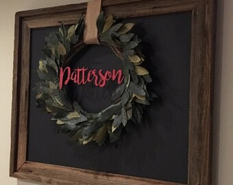 Custom Name or Last Name / DIY/ Unfinished/ door hanger/ door decor / wreath decor