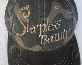 Sleepless Beauty Camouflaged Hat