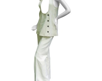 Incredible Space Age Courreges Couture Trouser Suit. 1960's