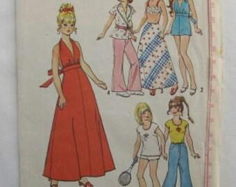 "Vintage 1974 Simplicity #6697 wardrobe patterns for 11 1/2"" Barbie type dolls"