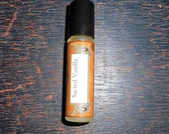 Sacred Vanilla Cologne - Warm Smokey Vanilla -2oz Spray Cologne, Roll-On Cologne for Men or Body Mist for Men