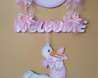 Baby Welcoming Sign, Party welcome Banner & Sign