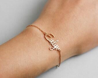Name Bracelet, Kids Name Bracelet, Baby Name Bracelet, Newborn Bracelet, Gift for New Mom, Custom Name Bracelet, Silver Name Bracelet SB0181