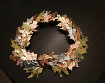 Metal Wreath for Thanksgiving and Halloween