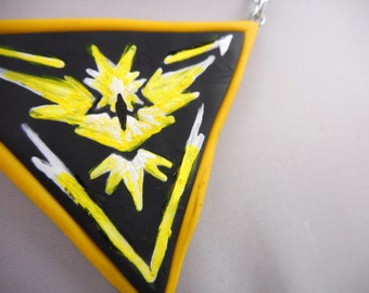 Hand Painted Team Instinct Necklace