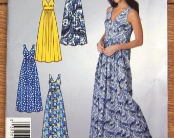 2009 simplicity it's so easy pattern 0761 misses dress sz 6-12 sleeveless v-neck