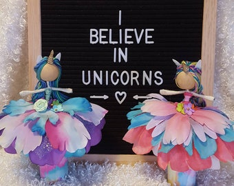 Unicorn flower fairy dolls